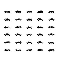 Car solid icons vector