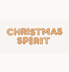 christmas spirit concept with gingerbread cookies vector image