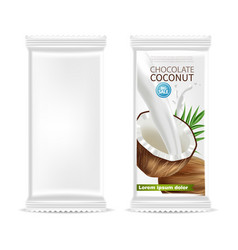 coconut chocolate isolated template vector image