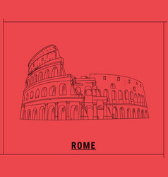 coliseum romehand drawn sketch vector image