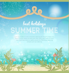 colorful summer template vector image