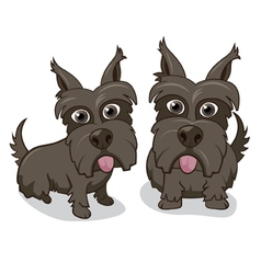Cute Cartoon Puppy Dogs vector image