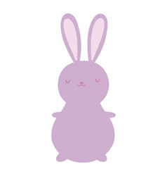 Cute rabbit cartoon character toy icon vector
