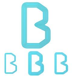 Cyan letter b logo design set vector image