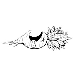 Dead beet cartoon vector