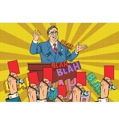 Distrust politics a red card candidate vector
