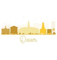 Dover City skyline golden silhouette vector