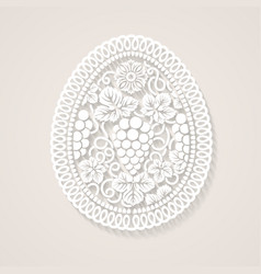 Easter egg with floral decoration vector