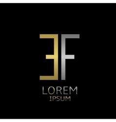 EF letters logo vector image