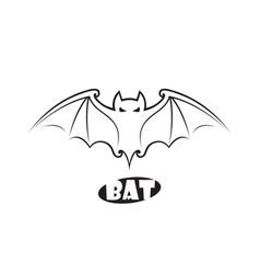 Emblem flying bat vector