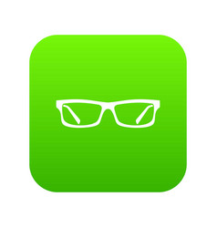 eye glasses icon digital green vector image