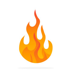 fire flame icon black icon isolated on white vector image