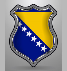 Flag of bosnia and herzegovina badge and icon vector