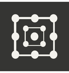 Flat in black and white mobile application alchemy vector