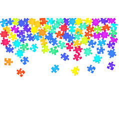 Game tickler jigsaw puzzle rainbow colors pieces vector