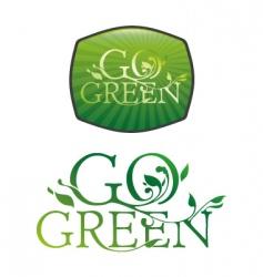 Go green typography vector
