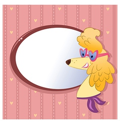 Greeting card with fashion dog vector image vector image