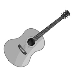 Guitar icon gray monochrome style vector image