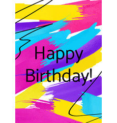 happy birthday abstract greeting card template vector image