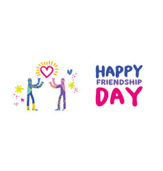 Happy friendship day friend love concept banner vector
