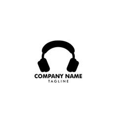 headphone icon headphone logo vector image