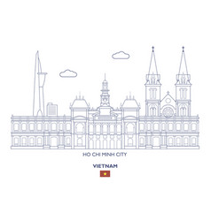 ho chi minh city skyline vector image