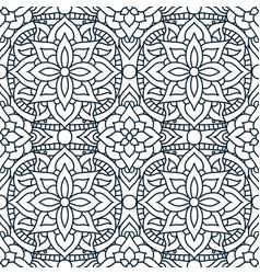indian mandala pattern seamless design vector image