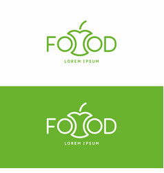 inscription food modern sign and emblem vector image
