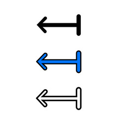 left arrow icon vector image