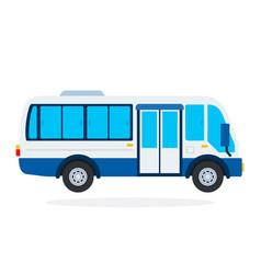 minibus flat isolated vector image