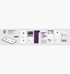 mobile banking app ui ux kit vector image