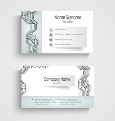 Modern business card with printed circuit board vector image