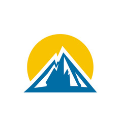 mountain logo design vector image