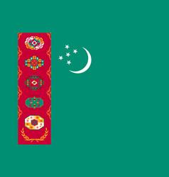 national flag of turkmenistan republic vector image