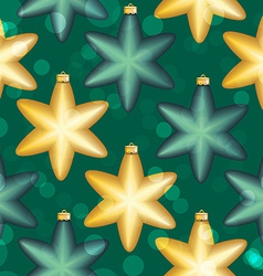 New Year pattern with ball Christmas wallpaper vector image