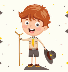 Of a scout kid vector