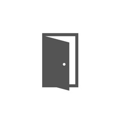 Open door icon in trendy flat style symbol for vector