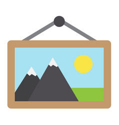 Picture in frame flat icon vintage and decor vector