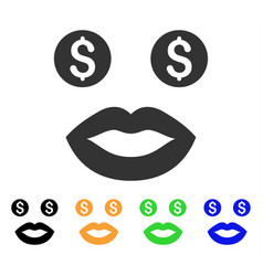 Prostitute smile icon vector