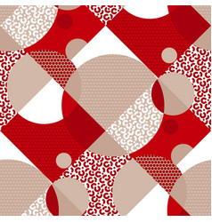 round geometric and white texture seamless pattern vector image