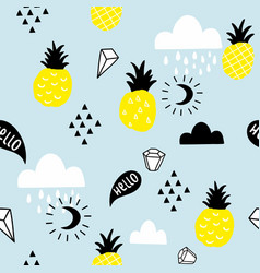 scandinavian style seamless pattern with hand vector image