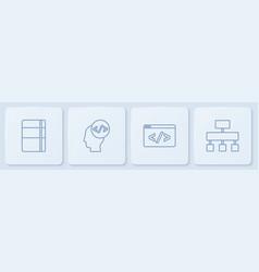 Set line sketchbook or album front end vector