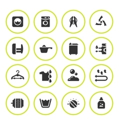 Set round icons of laundry vector image