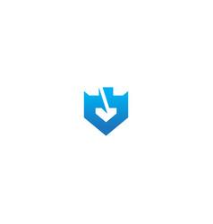 shape shield defense company logo vector image