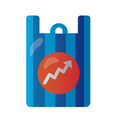 shopping bag with arrow up infographic degradient vector image
