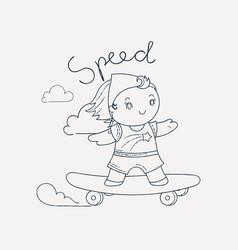 Skating girl vector