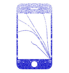 Smartphone screen cracks textured icon vector