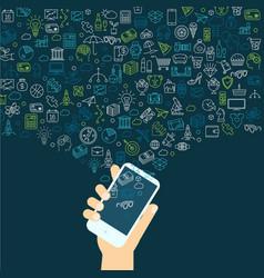 smartphote social media vector image