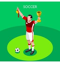Soccer Winner 2016 Summer Games 3D Isometric vector