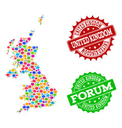 Social network map of united kingdom with speech vector